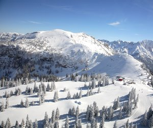 A stunning panorama image of the ski resort.
